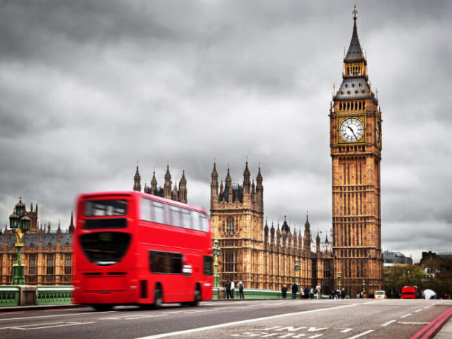 London big ben and red bus