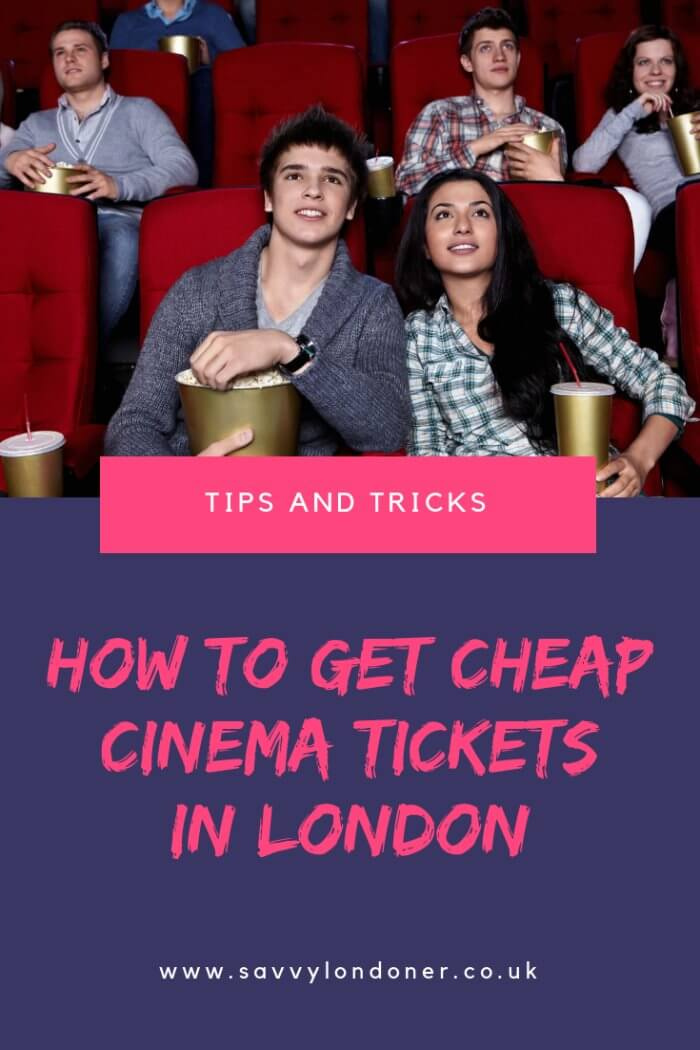 Cheap cinema tickets tips pin