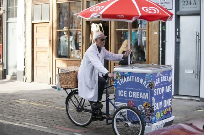 Ice cream seller in London