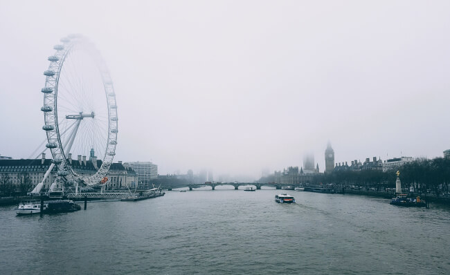 London Eye cloudy day