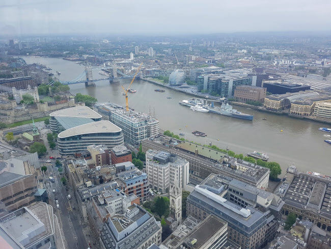 The view from Skygarden