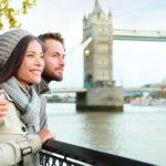 Happy couple date london man woman 1100
