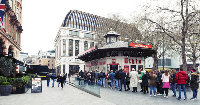 TKTS booth in Leicester Square london